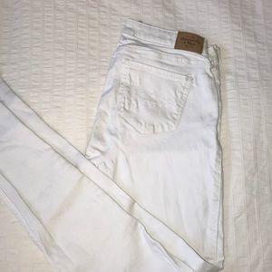 Super Skinny Abercrombie Jeans WHITE